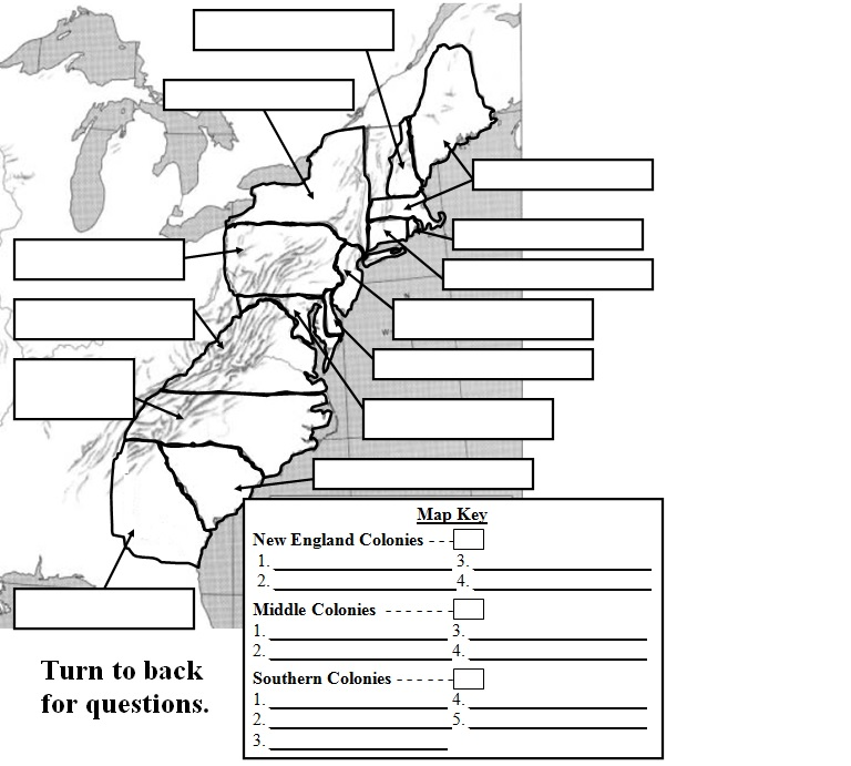 Printables 13 Colonies Worksheet 13 colonies maps welcome to mr amadors digital social studies map answer key