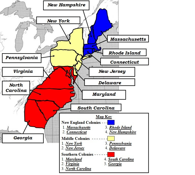 Colonies Maps Welcome To Mr Amadors Digital Social Studies - Original thirteen colonies map